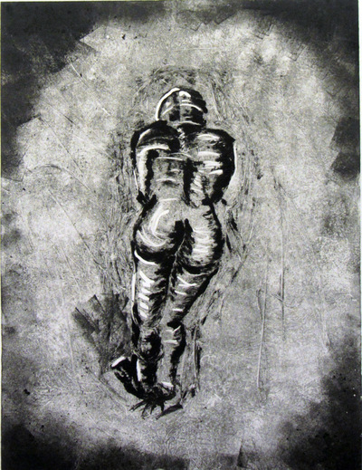 Jessica Cherry - Deep inside, 2014 Monoprint 11x16 inches