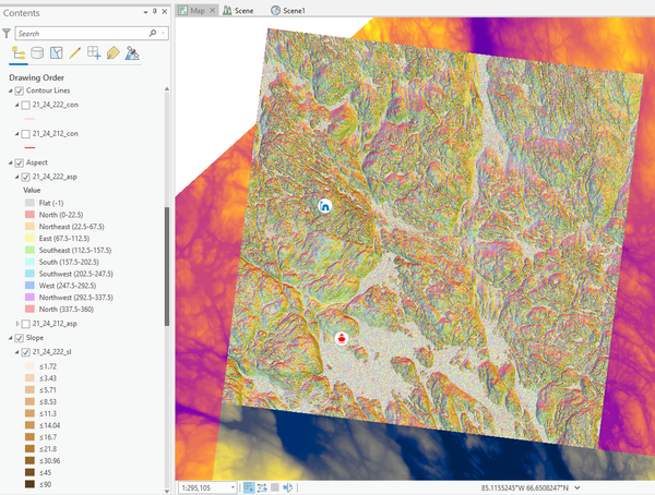 My Portfolio - Elevation imagery of the inner Houle Channel in Nunavut