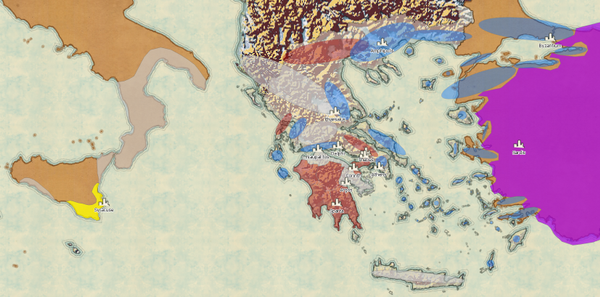 My Portfolio - Controlled and spheres of influence of Greek city-states at the start of the Peloponnesian War in 431BCE