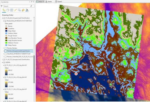 My Portfolio - scikit-learn produced imagery of the inner Houle Channel in Nunavut