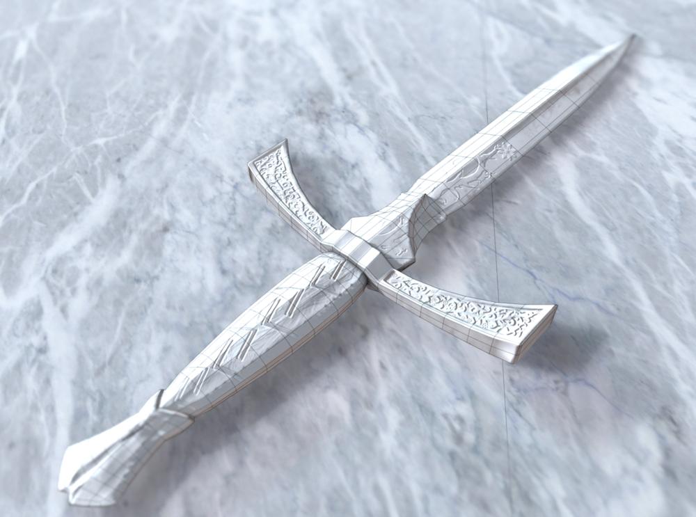 Joels Portfolio - Dagger Greyscale