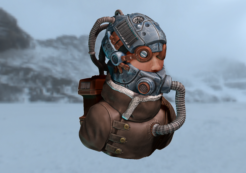 Joels Portfolio - Soldier Bust High-res