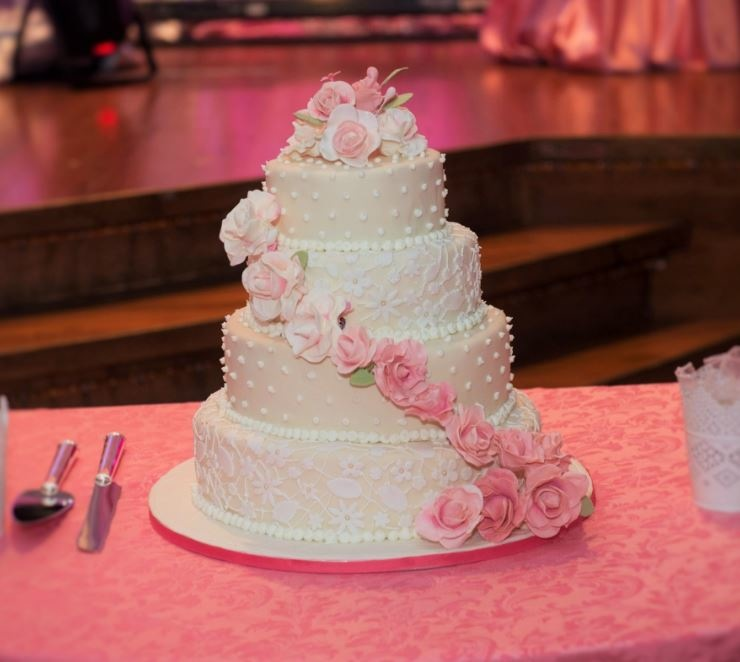 Simply Cakes - Roses are Forever Lace Wedding Cake