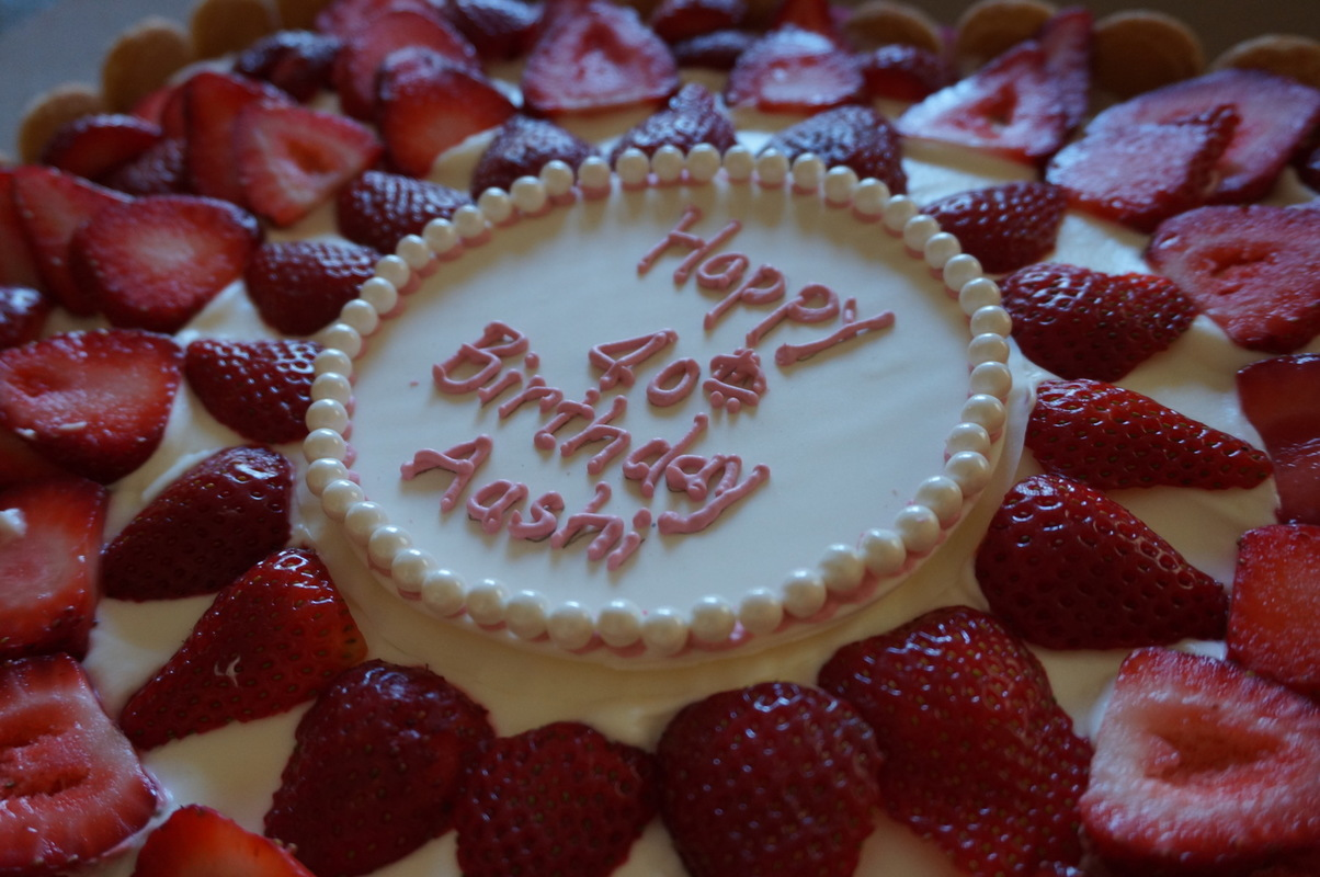 Simply Cakes - In Your Dreams Strawberry Shortcake with pearl plaque