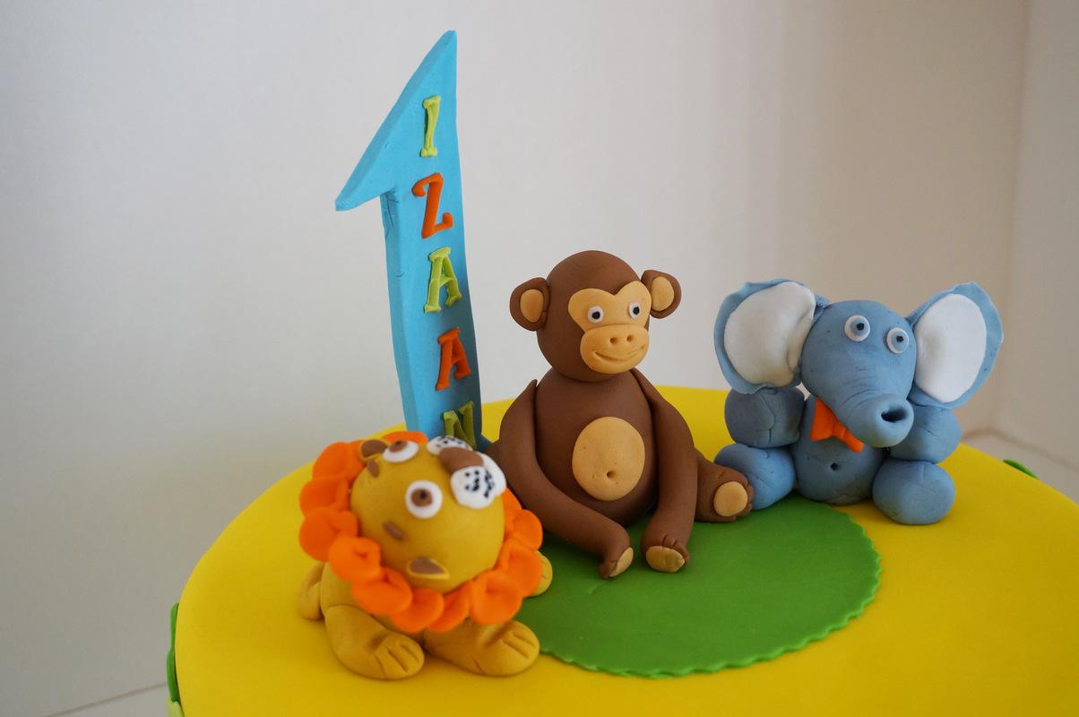 Simply Cakes - First birthday cake, jungle animal theme