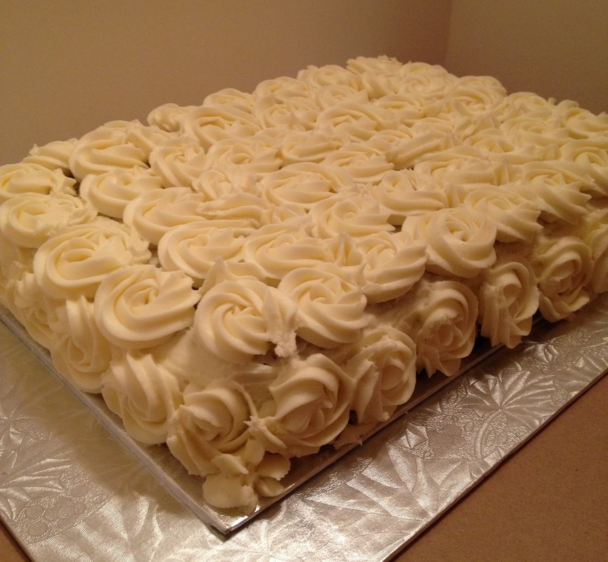 Simply Cakes - Carrots to Remember with Cream Cheese Icing Rosettes