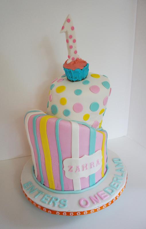 Simply Cakes - 1st birthday Onederland topsy turvy cake!
