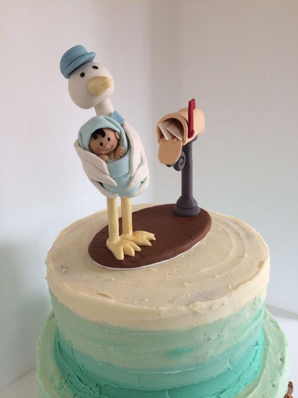 Simply Cakes - Custom stork topper!
