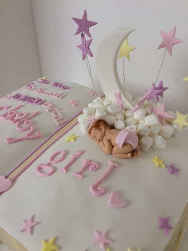 Simply Cakes - So Tiny, So Small, So Loved by All book cake with sleeping baby for this Baby Shower!
