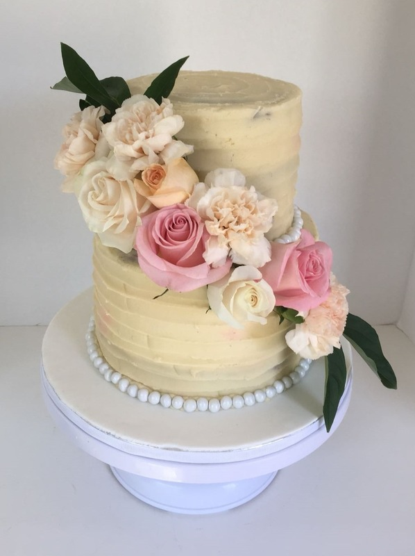 Simply Cakes - Floral Bridal Shower cake