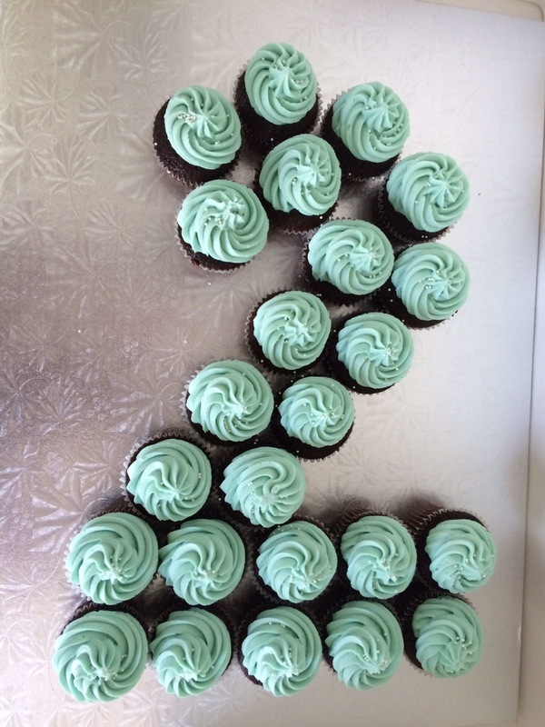 Simply Cakes - Cupcakes arranged in the #2!