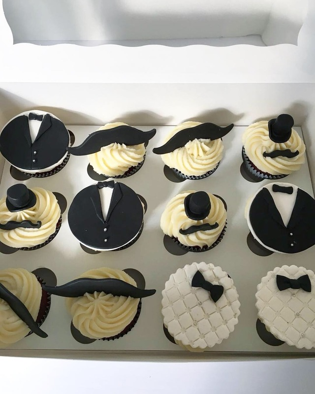 Simply Cakes - Mustache & top hat themed desserts for a baby shower