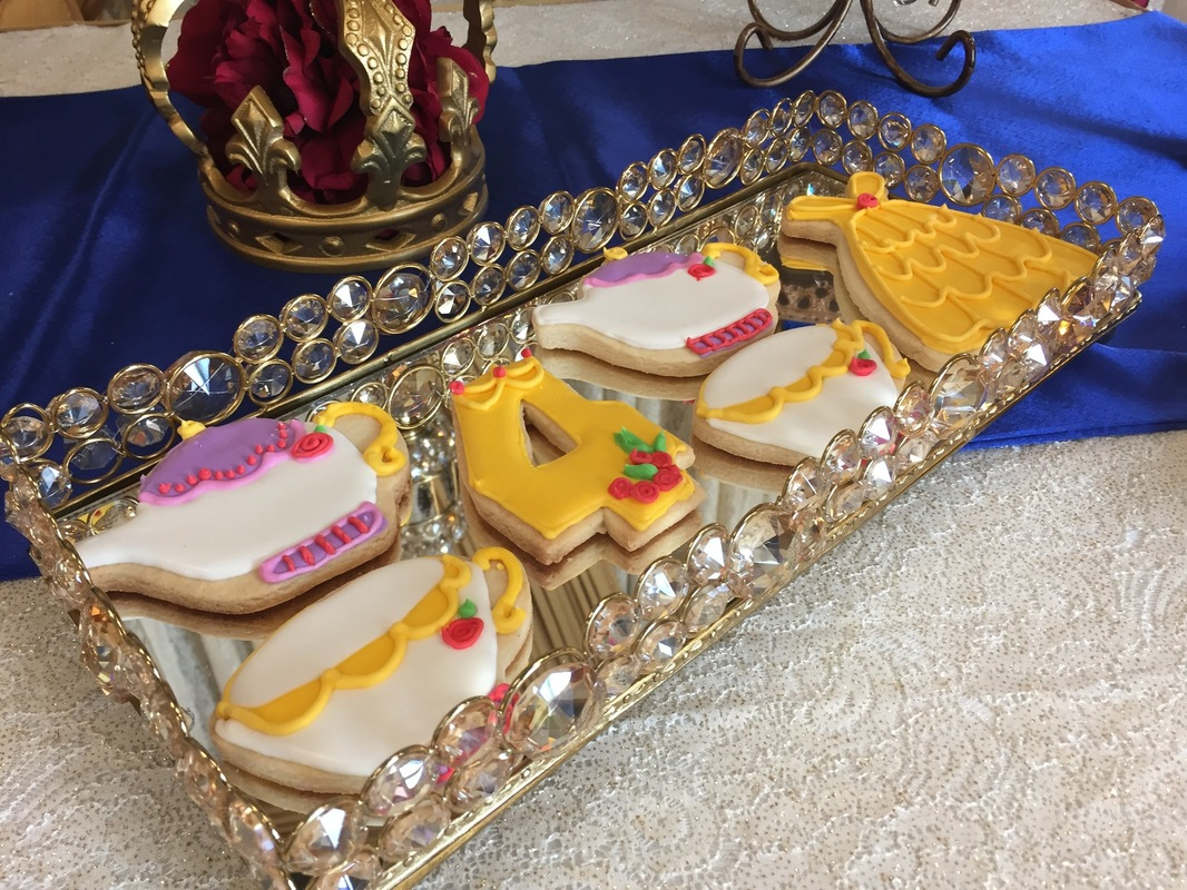 Simply Cakes - Beauty and the Beast cookies