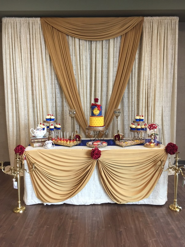 Simply Cakes - Beauty and the Beast themed birthday party (decor by others)