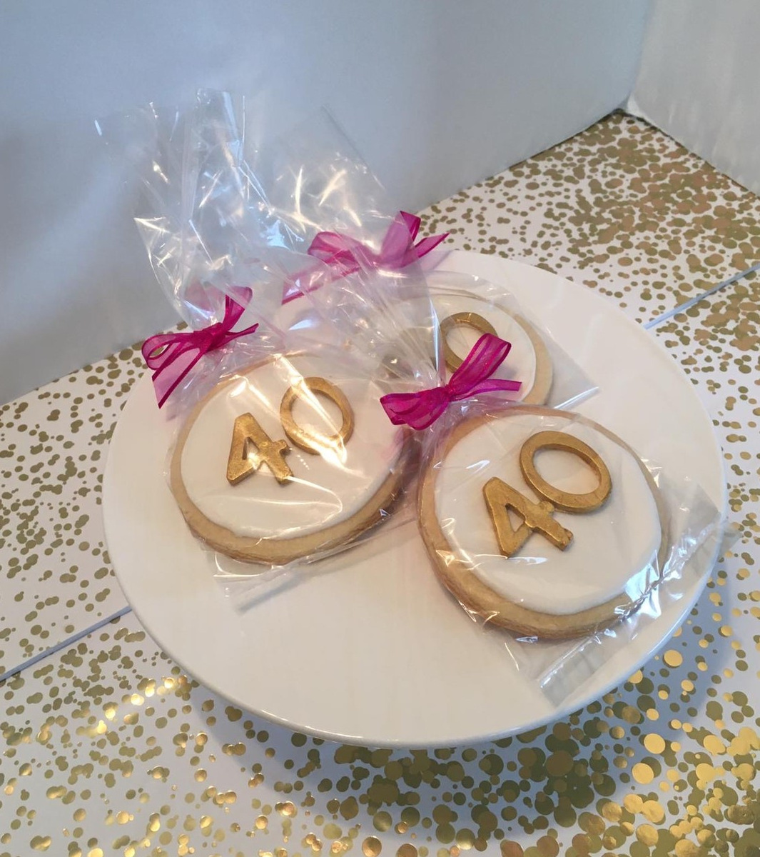 Simply Cakes - 40th birthday cookie giveaways