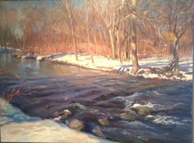 Angresano Studio - Winter Stream , Ridgewood