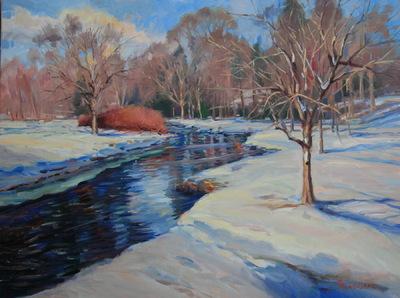 Angresano Studio - Demarest Brook in Winter