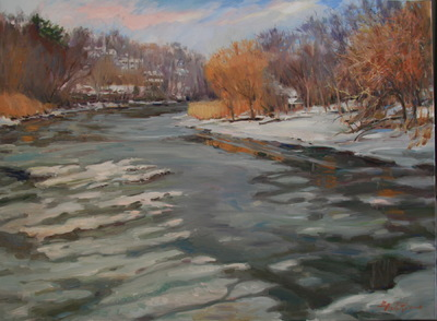 Angresano Studio -  Hackensack River in Winter
