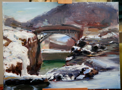 Angresano Studio - The Upper Falls in Winter