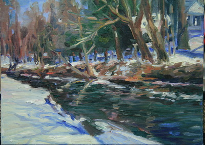 Angresano Studio -  Winter at Ruckman Pond