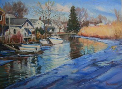 Angresano Studio -  Leading to the Hudson, Piermont