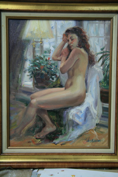 Angresano Studio - Seated Nude 16x20 Oil
