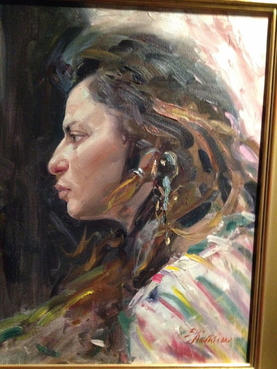 Angresano Studio -  The Turkish Woman 20x24 Oil