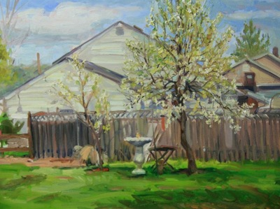 Angresano Studio - The Pear Tree in Bloom 18 x 24 Oil