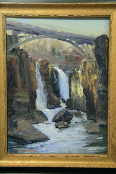 Angresano Studio -  Early evening Patterson Falls 12 x 9 Oil