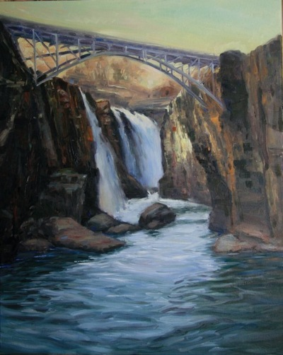 Angresano Studio - Patterson Falls 30 x 24 Oil