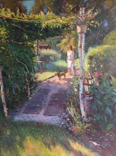 Angresano Studio - The Birch Arbor 40 x 30 Oil