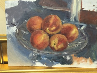 Angresano Studio - Peach study 9x12 Oil