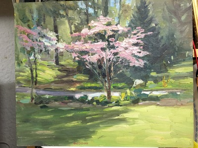 Angresano Studio -  Spring , Davis Johnson Park 9x12 Oil