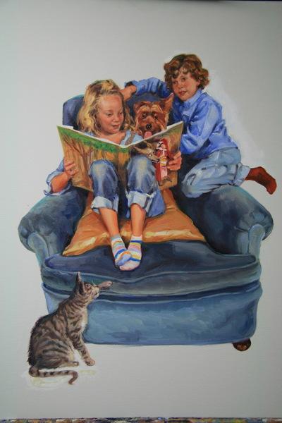 Angresano Studio - Penguin Books Children reading