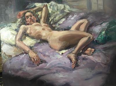 Angresano Studio - Reclining Nude 16x 12 Oil