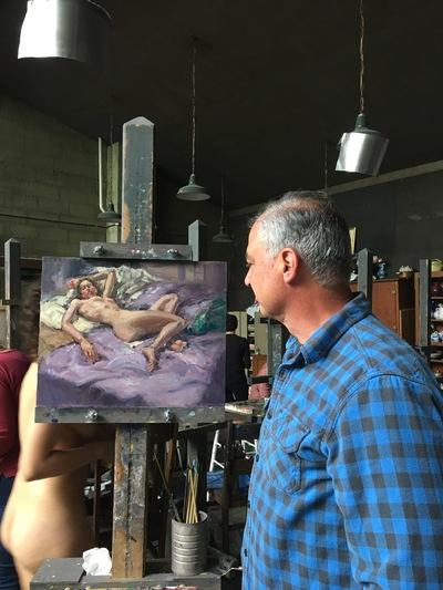 Angresano Studio - The Artist in the Ridgewood Art Institute Studio