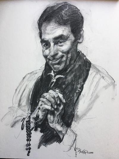 Angresano Studio - The actor Paul as Saint John Vianny