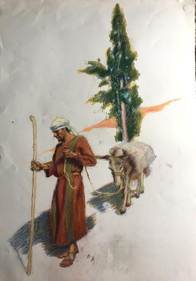 Angresano Studio - The Shepherd  Vignette