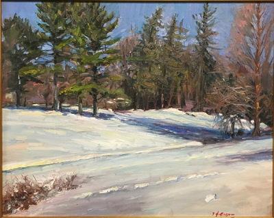 Angresano Studio - Toward the Pines Frick property 20 x 16 Oil
