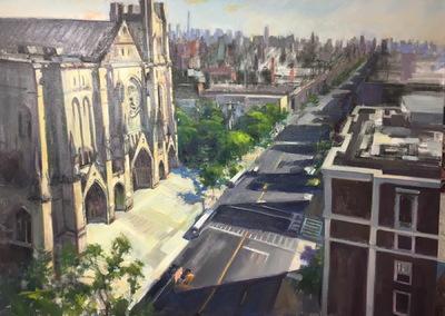 Angresano Studio - Morning Light , St. John the Divine 30 x 40 Oil