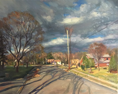 Angresano Studio - Late Afternoon Fall, Closter 18 x 24 Oil