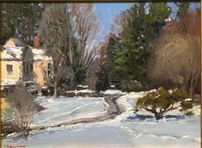 Angresano Studio -  Winter morning  20 x16 Oil Frick Family Home