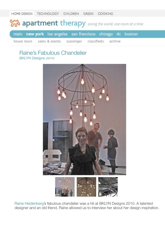 Raine Heidenberg Interior Design New York Brooklyn Montauk - http://www.apartmenttherapy.com/raines-fabulous-chandelier-bkl-116563