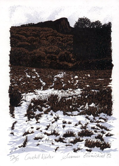Printmaking, Poems & Projects - Cavehill - Offset Lithographic print