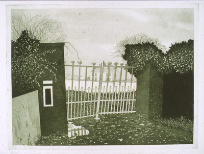 Printmaking, Poems & Projects - Through the Gates - etching with aquatint