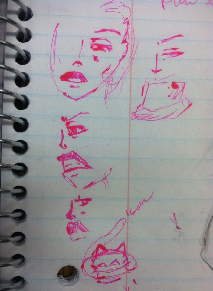 Toni Reid Art - Doodles in class