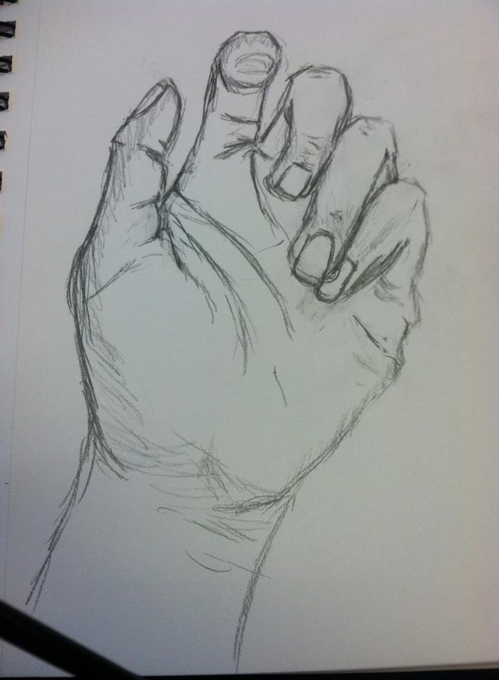 Toni Reid Art - Study of my hand.