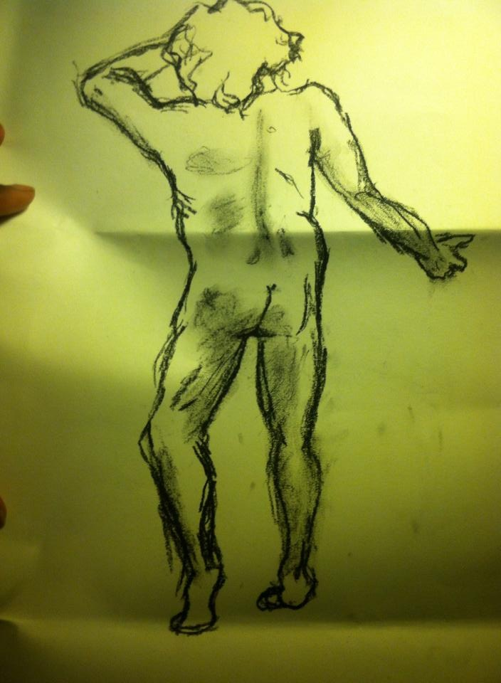 Toni Reid Art - Man posing