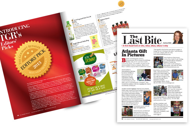Brad Hofbauer - Graphic Design & Photography - Stagnito Media - The Gourmet Retailer Magazine layout/design