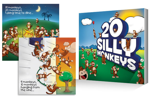 Brad Hofbauer - Graphic Design & Photography - 20 Silly Monkeys - Childrens book illustration